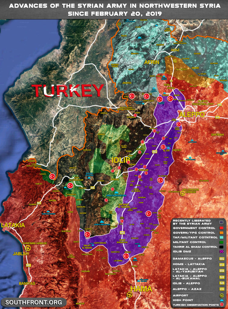 Map Comparison: Military Situation In Northwestern Syria In February 2019 And February 2020
