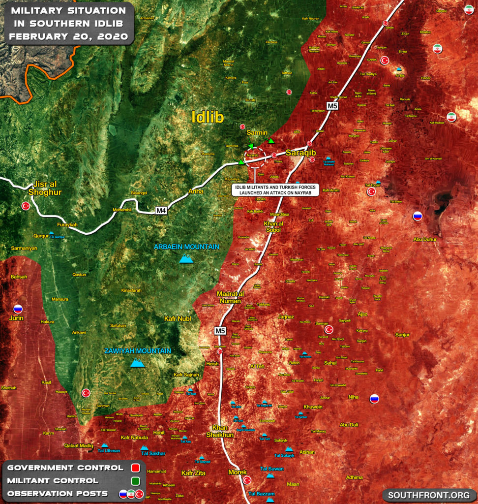 Turksih Forces And Idlib Militants Are Storming Syrian Army Positions In Nayrab (Map Update)