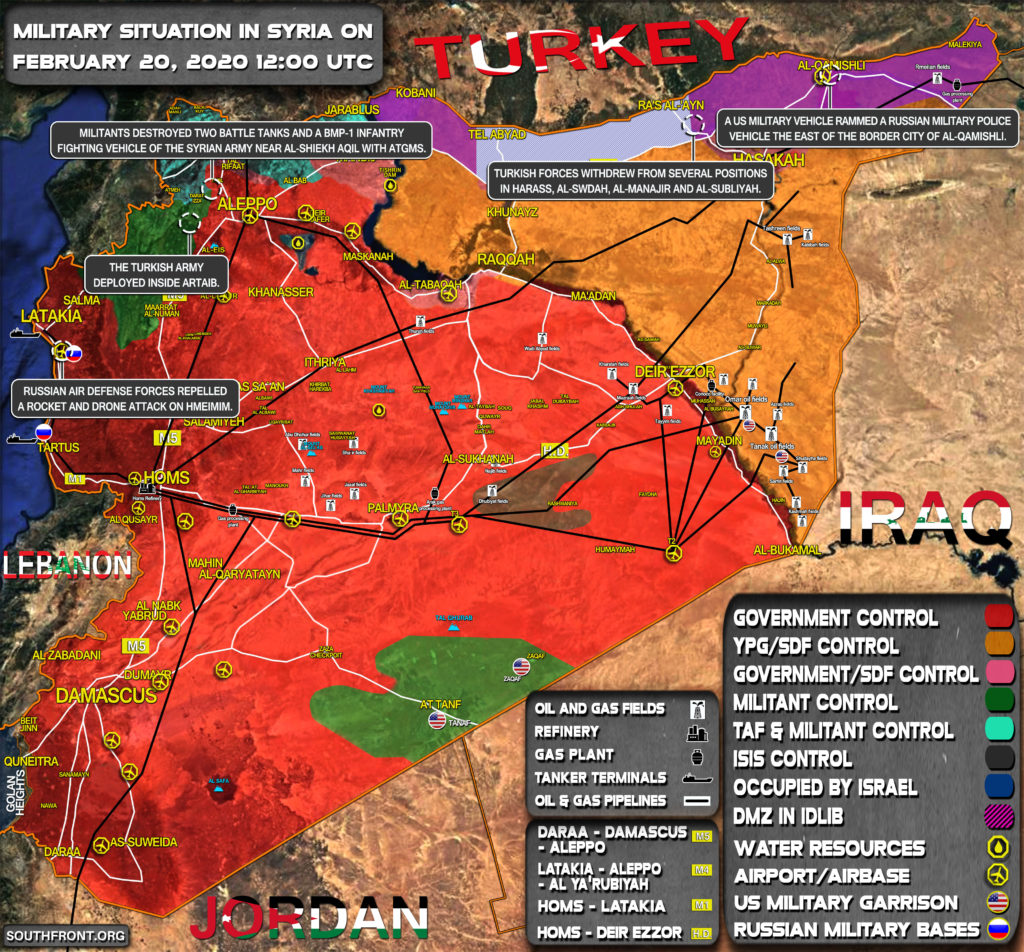 Military Situation In Syria On February 20, 2020 (Map Update)