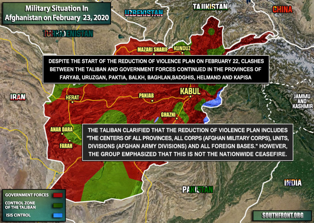 Military Situation In Afghanistan On February 23, 2020 (Map Update)