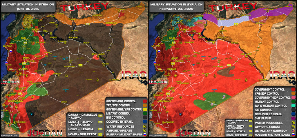 Map Comparison: Military Situation In Syria In 2015 And 2020