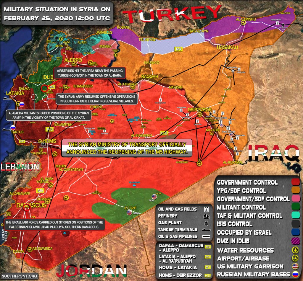 Military Situation In Syria On February 24, 2020 (Map Update)