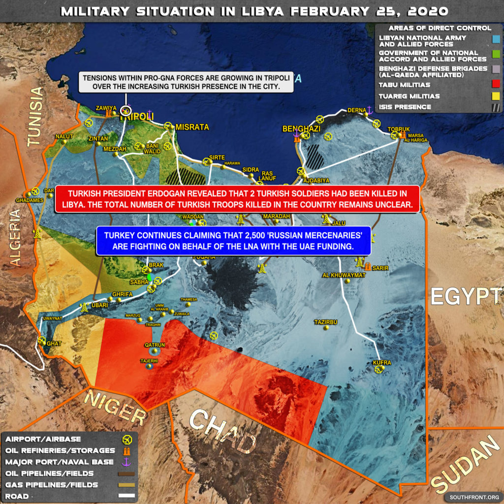 Military Situation In Libya On February 25, 2020 (Map Update)
