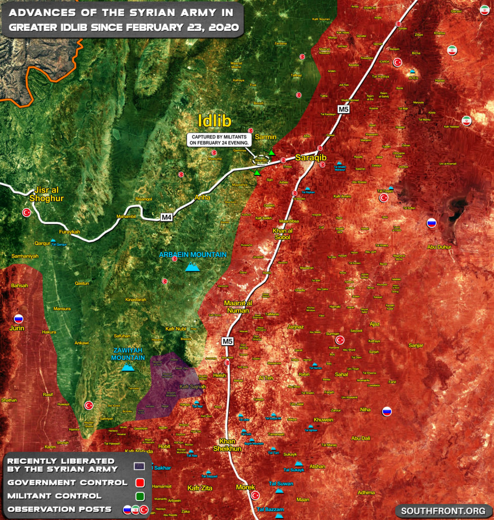 Gains And Setbacks Of Syrian Army In Greater Idlib Since February 23, 2020 (Map Update)