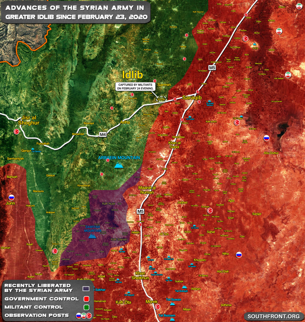 Syrian Army's Gains In Southern Idlib During Past 48 Hours (Map Update)