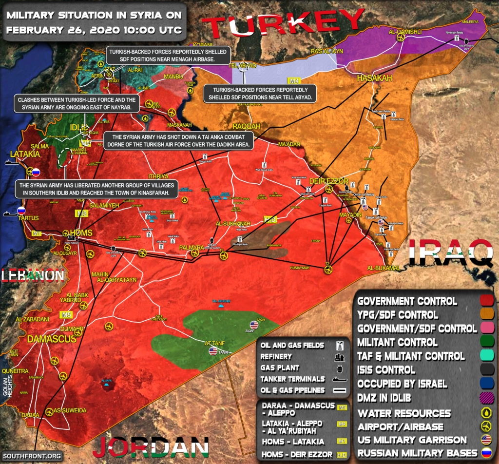 Military Situation In Syria On February 26, 2020 (Map Update)