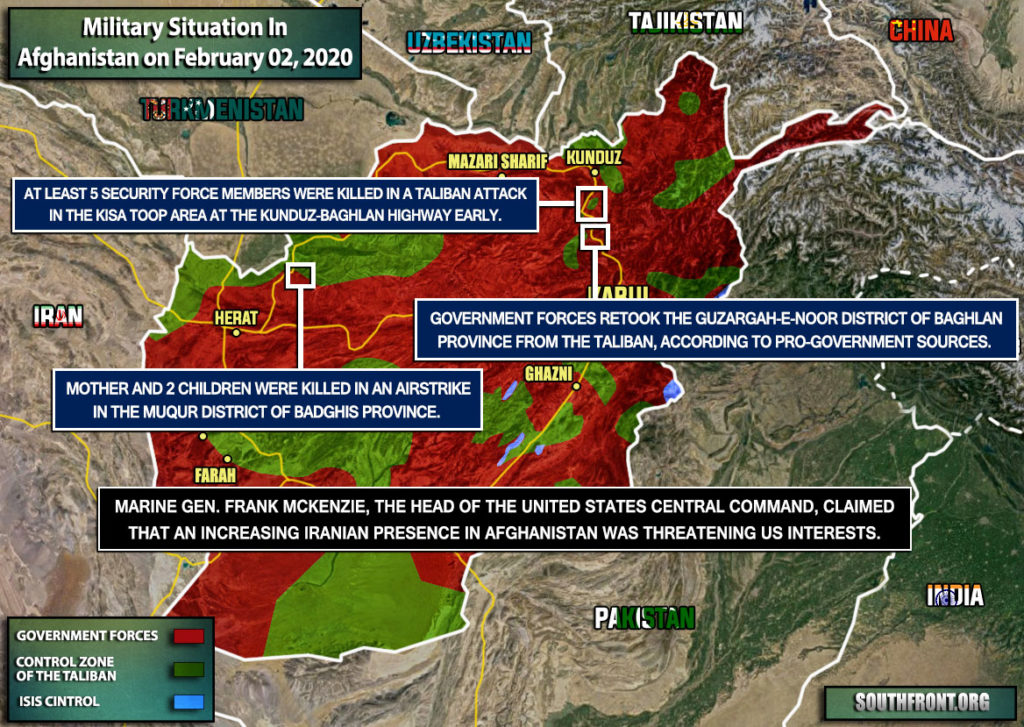 Military Situation In Afghanistan On February 2, 2020 (Map Update)