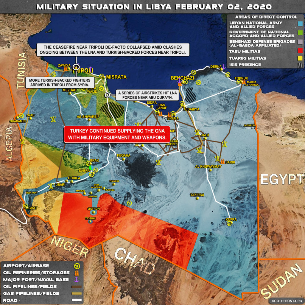 Military Situation In Libya On February 2, 2020 (Map Update)