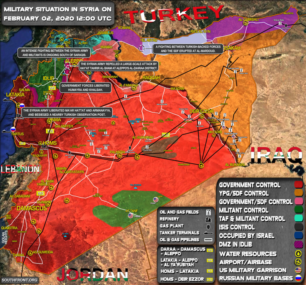 Military Situation In Syria On February 2, 2020 (Map Update)