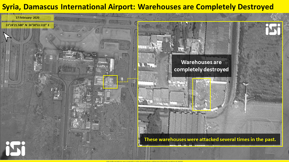 Satellite Images Demonstrate Damage Caused To Damascus International Airport By Recent Israeli Strike