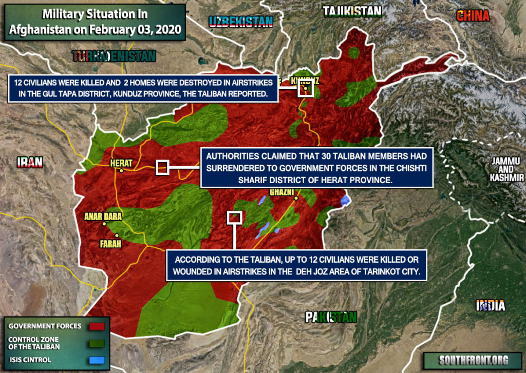 Military Situation In Afghanistan On February 3, 2020 (Map Update)
