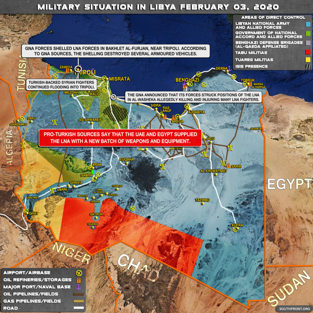 Military Situation In Libya On February 3, 2020 (Map Update)