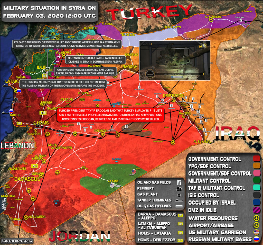 Military Situation In Syria On February 3, 2020 (Map Update)