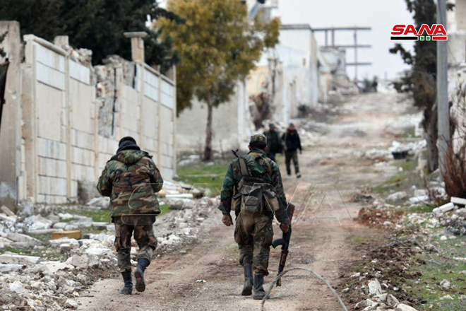 In Photos: Syrian Troops In Liberated Rashidin 4 District In Western Aleppo