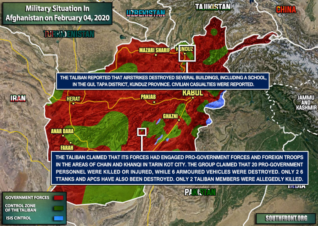 Military Situation In Afghanistan On February 4, 2020 (Map Update)