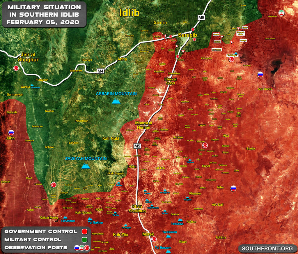 Turkish Observation Post Near Tal Toqan Is Besieged By Syrian Army, As Erdogan Sends More Troops, Equipment To Idlib
