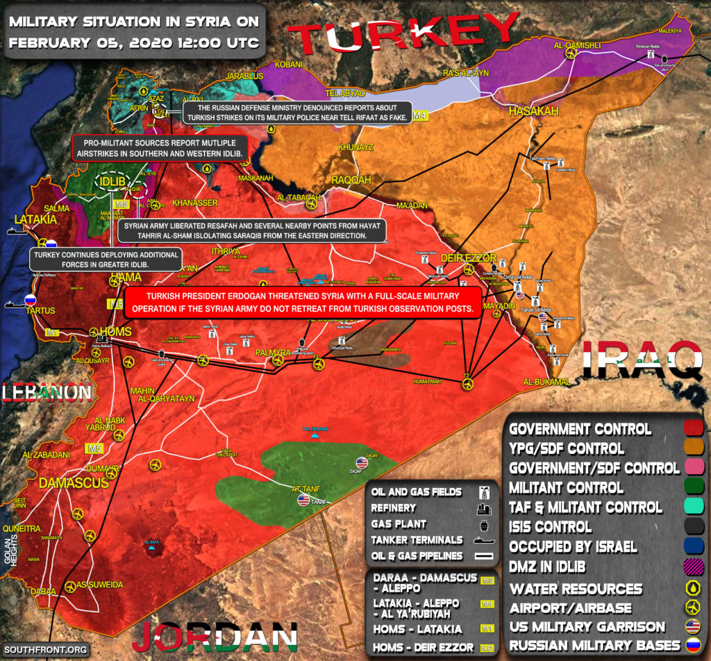 Military Situation In Syria On February 5, 2020 (Map Update)