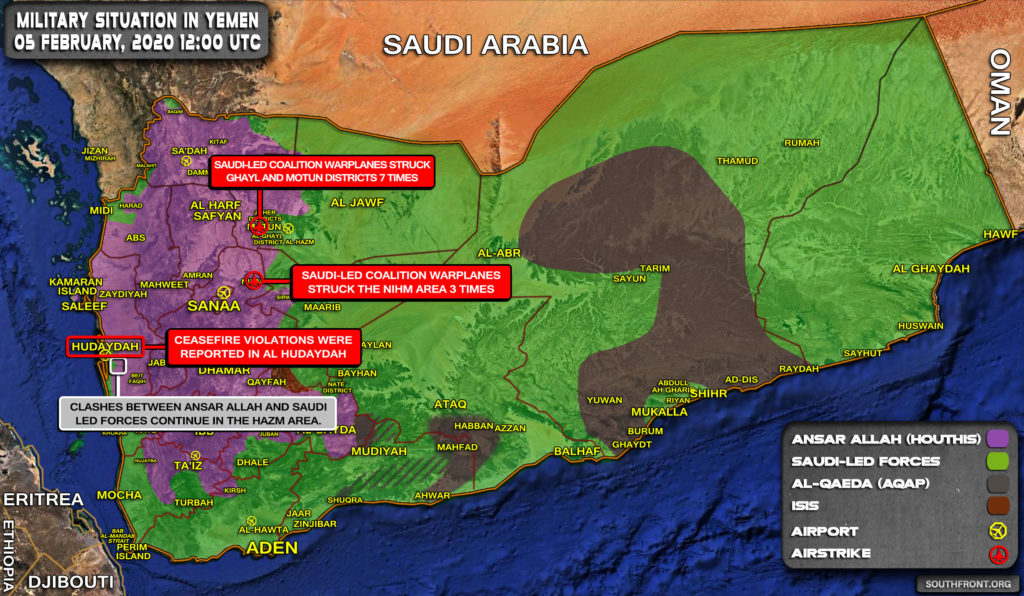 Military Situation In Yemen On February 5, 2020 (Map Update)