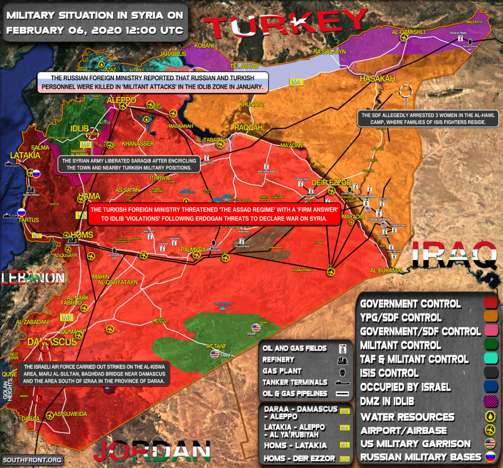 Military Situation In Syria On February 6, 2020 (Map Update)