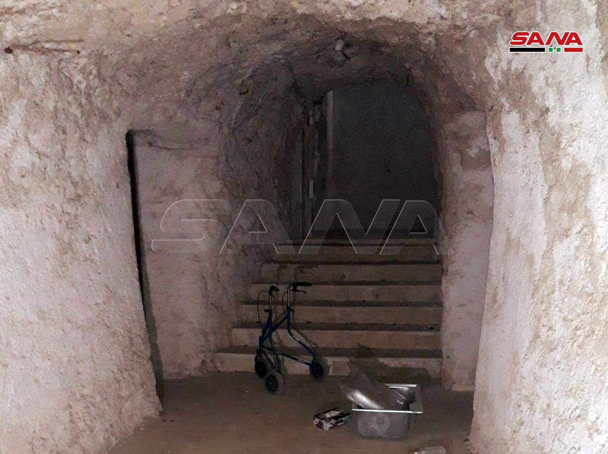 In Photos: Syrian Army Uncovers Fortified Headquarters In Saraqib City