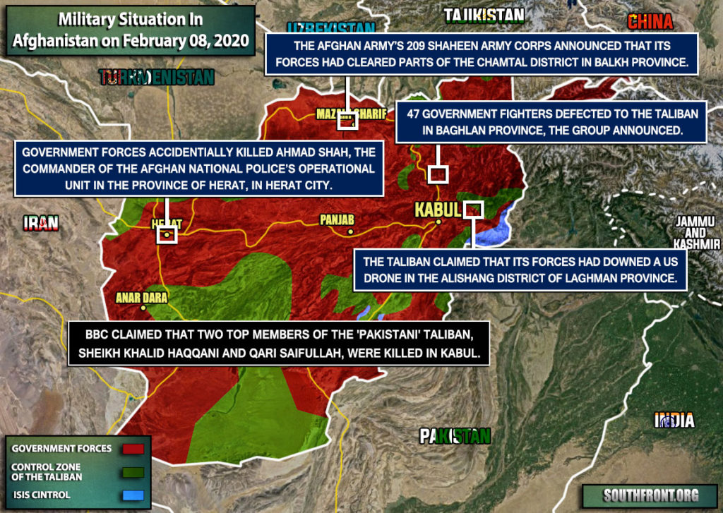 Military Situation In Afghanistan On February 8, 2020 (Map Update)
