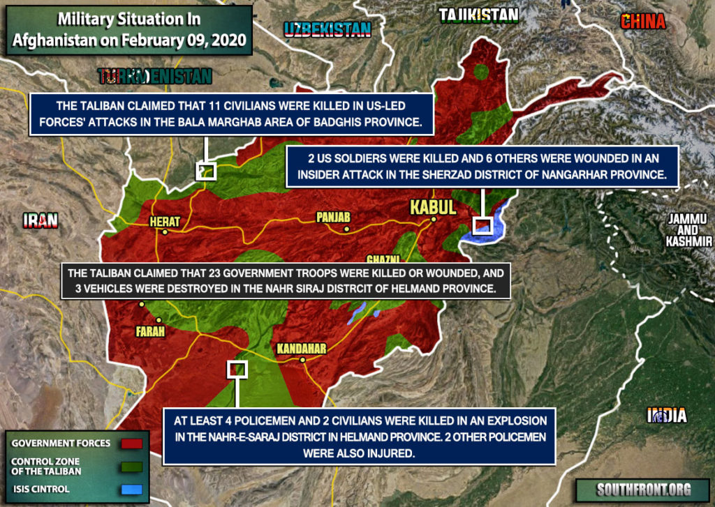 Military Situation In Afghanistan On February 9, 2020 (Map Update)