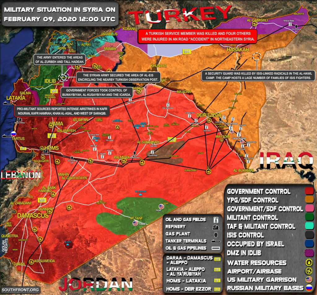 Military Situation In Syria On February 9, 2020 (Map Update)