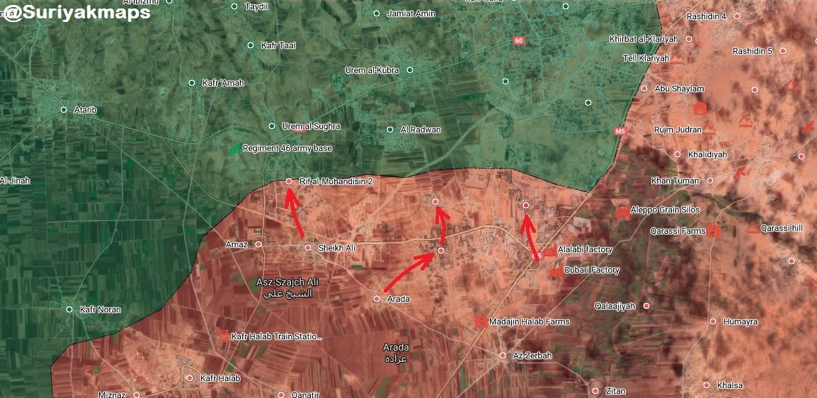 Sýrska Armáda Viedla V Nových Oblastiach Severnej Diaľnici M5