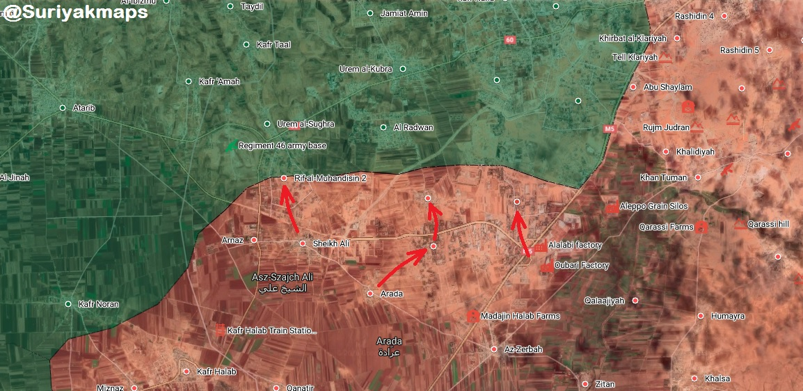 Syrian Army Clears New Areas North Of M5 Highway