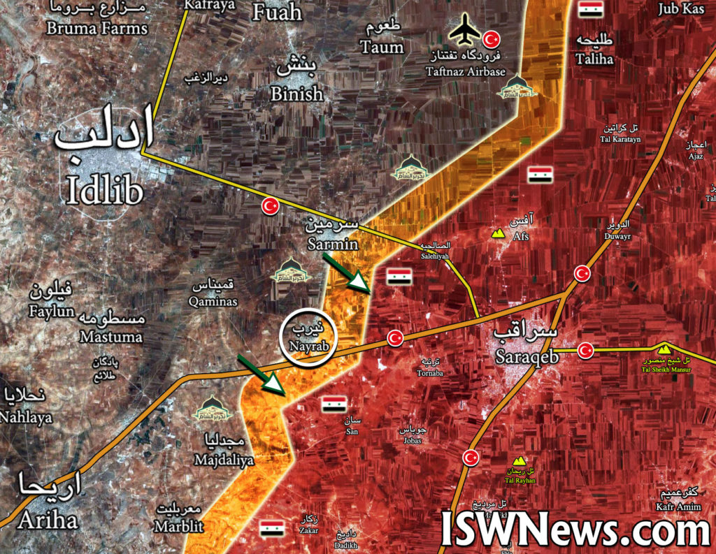 Turkish-led Forces Reenter Nayrab Amid Collapse Of Their Defense In Southern Idlib (Maps)