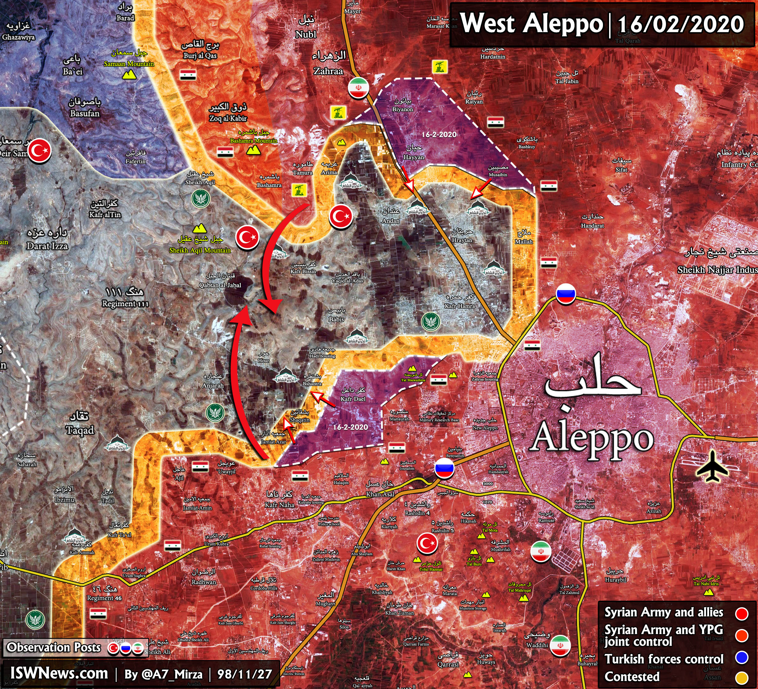 Syrian Army Sweeps Through Northern, Northwestern Aleppo As Militant Positions Collapse