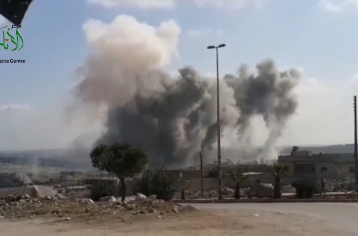 Smoke Rises Over Darat Izza As Syrian Army Advancing In Western Aleppo