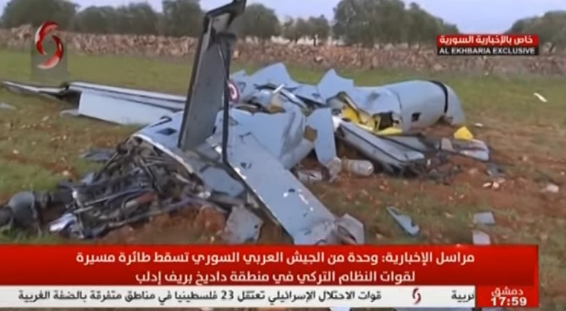 Syrian Army Shot Down Turkish Unmanned Combat Aerial Vehicle Over Eastern Idlib (Video)