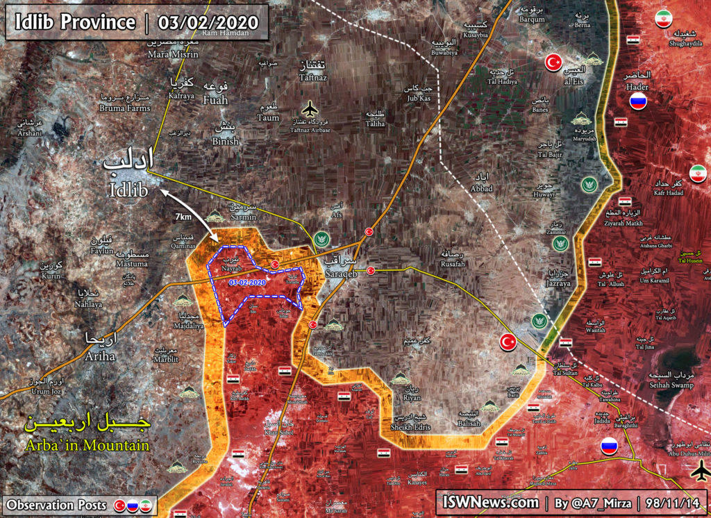 Syrian Army Encircling Saraqib As Turkish Forces Ingore Scheduled Joint Patrol With Russia In Syria's Northeast