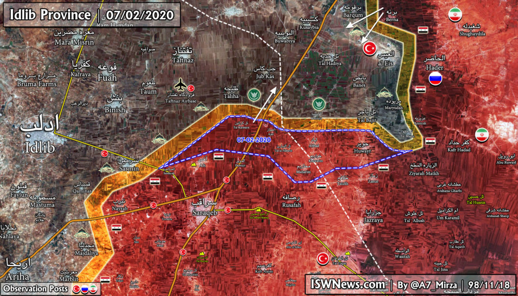 Map Update: Syrian Army Is Pushing To Rescue Another Turkish Observation Post From Al-Qaeda
