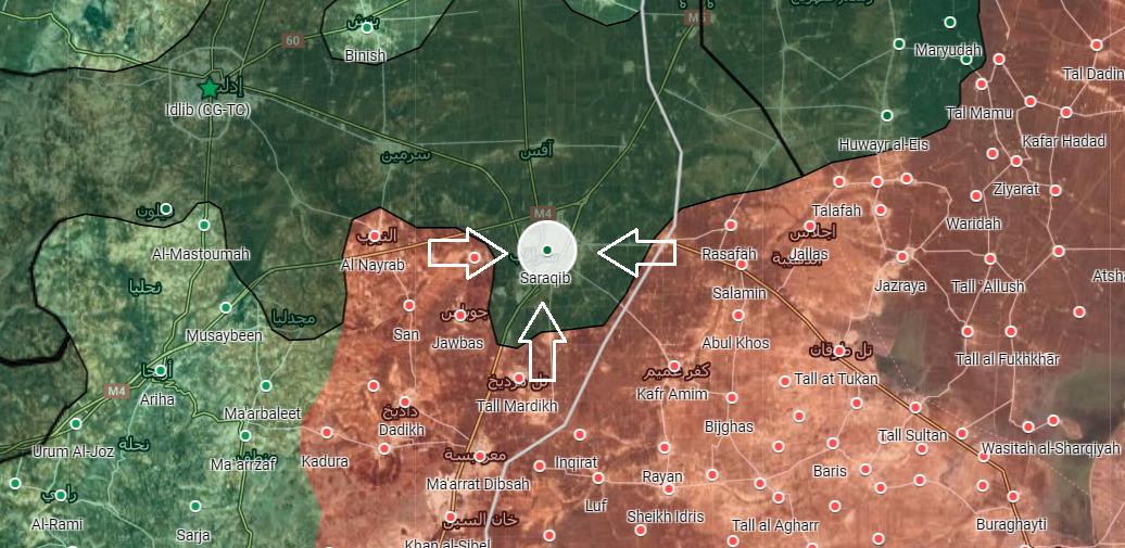 Syrian Army Storms Saraqib