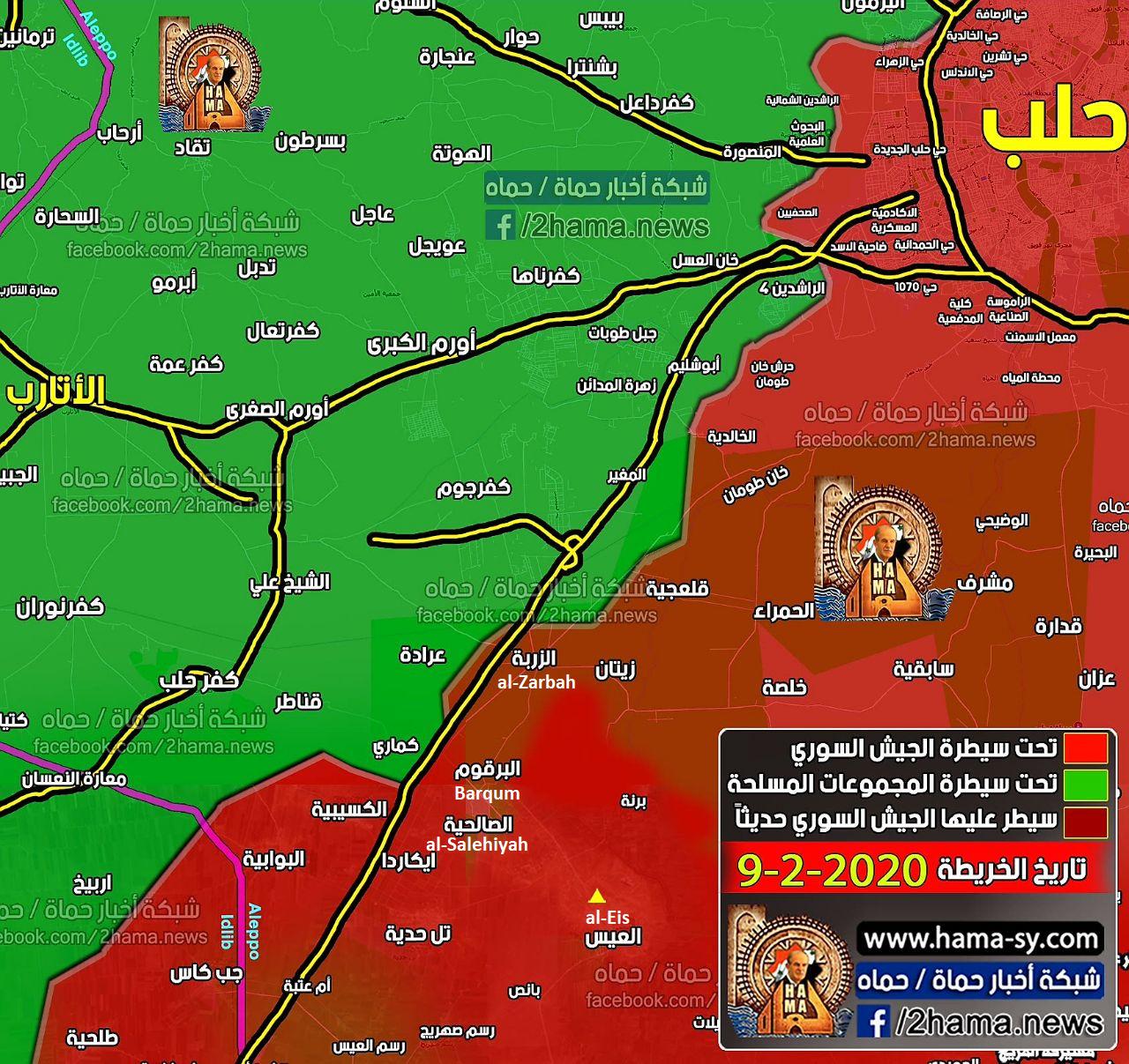 Sýrska Armáda Zachytáva Tri Mestá Spolu M5 Diaľnici Z HTS