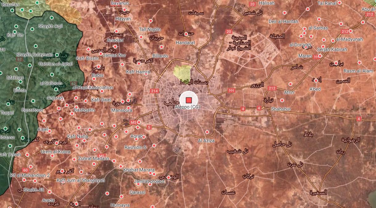 Severné, Severozápadné Aleppo Úplne Zabezpečené Sýrskej Armády