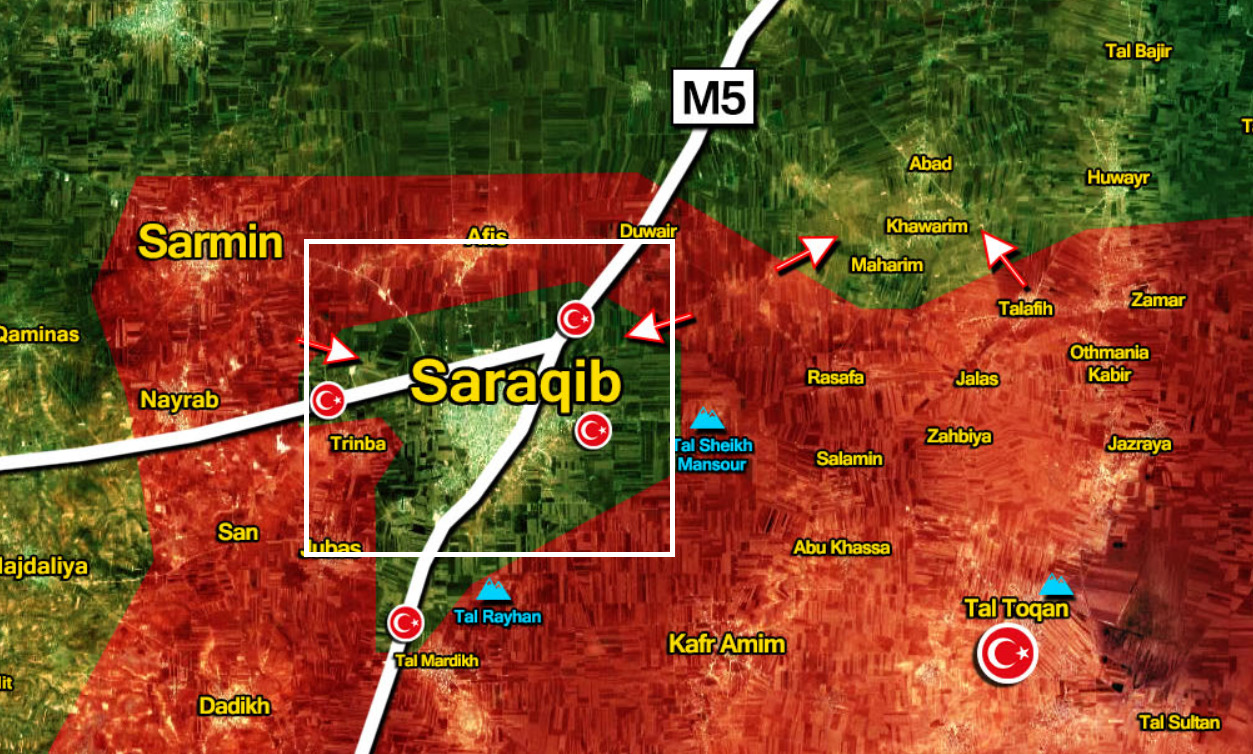 Syrian Army Liberated Saraqib, Turkish Observation Posts From Militants