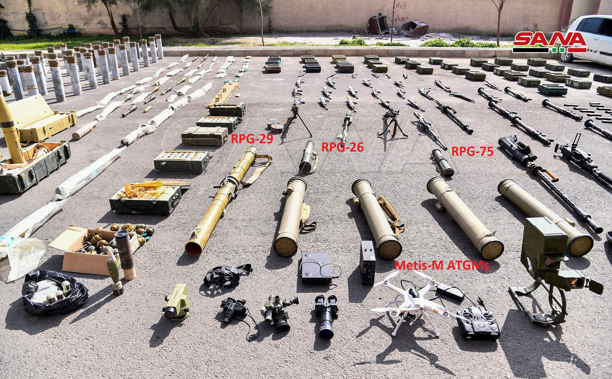 Syrian Army Uncovers Loads Of Weapons, Including Guided Missiles, In Southern Region (Video)
