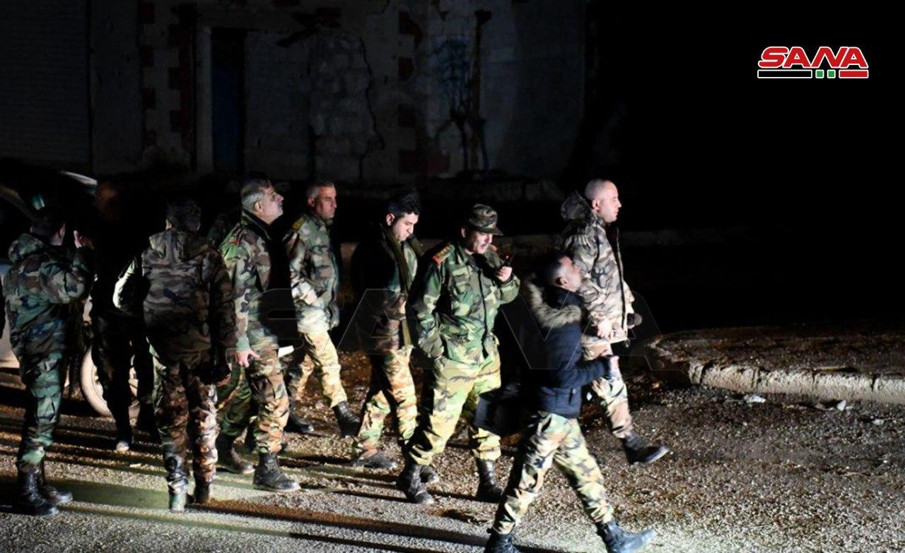 First Photos Of SAA Troops In Al-Eis Town And Hilltop