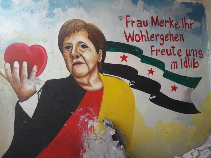 In Photos: Idlib Militants Fell In Love With Angela Merkel