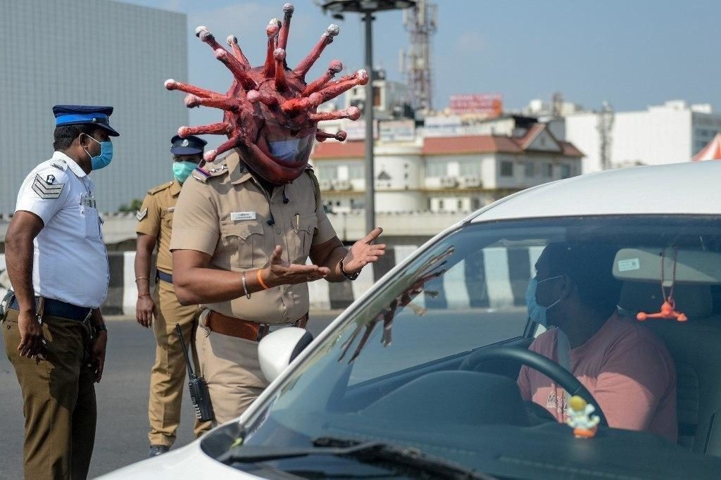 Indian Police Officers Employ Innovative Measures To Combat COVID-19 Pandemic
