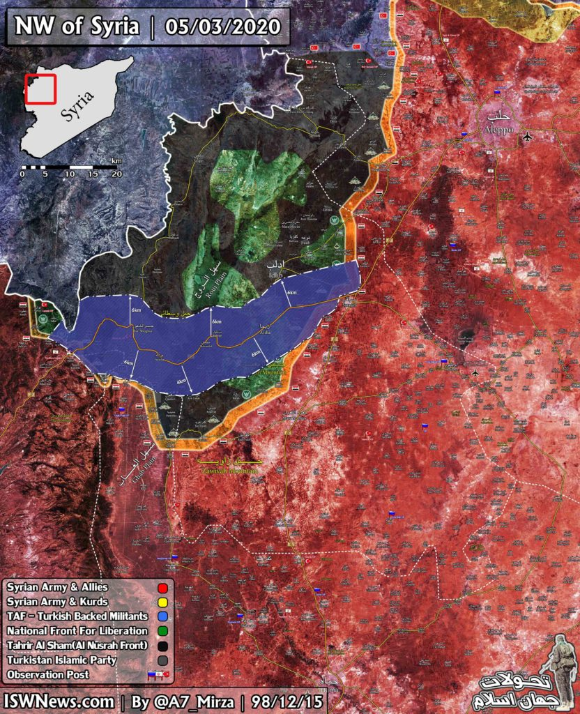 Map Update: M4 Buffer Zone Agreed By Russia And Turkey In Greater Idlib