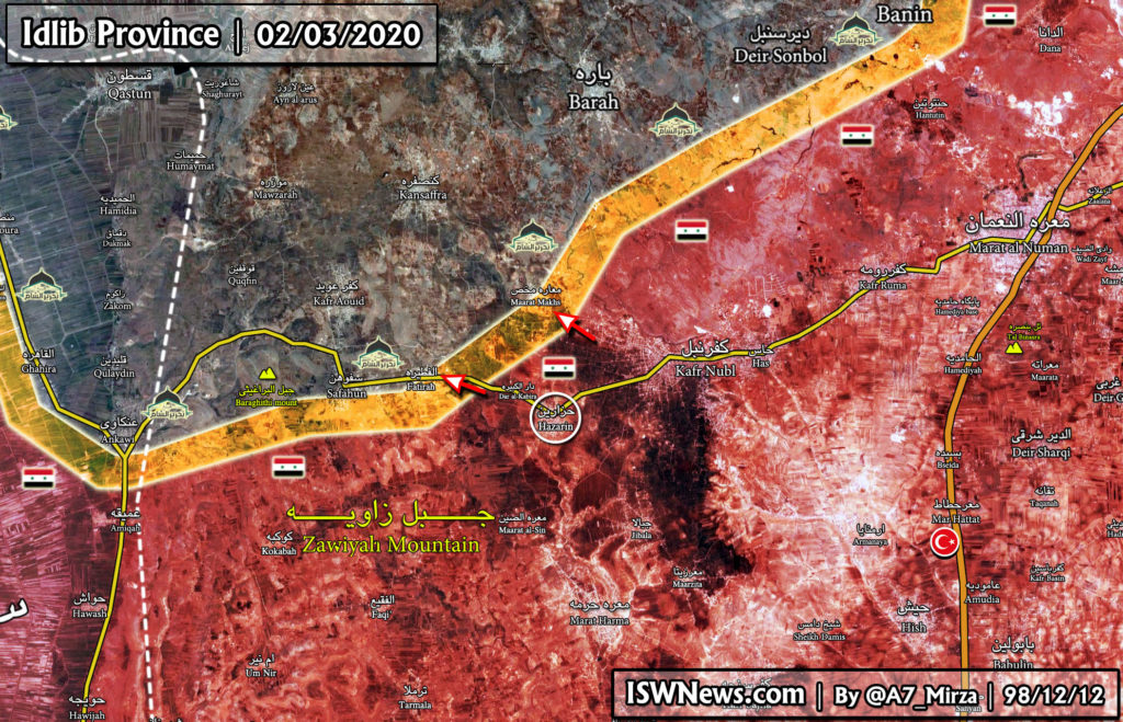 Turkish-led Forces Retreat From Hazarin And Dar al-Kabirah In Southern Idlib (Map Update)