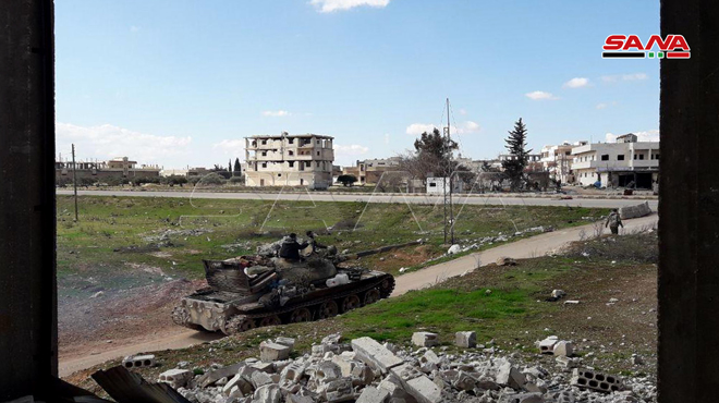 In Photos: Syrian Troops In Saraqib Amid Clashes With Turkish-led Forces