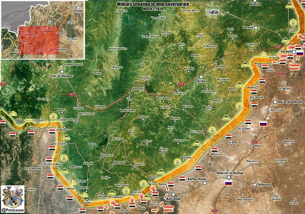 Syrian Troops Advance West Of Saraqib Amid Lamentation And Weeping Of Al-Qaeda Supporters