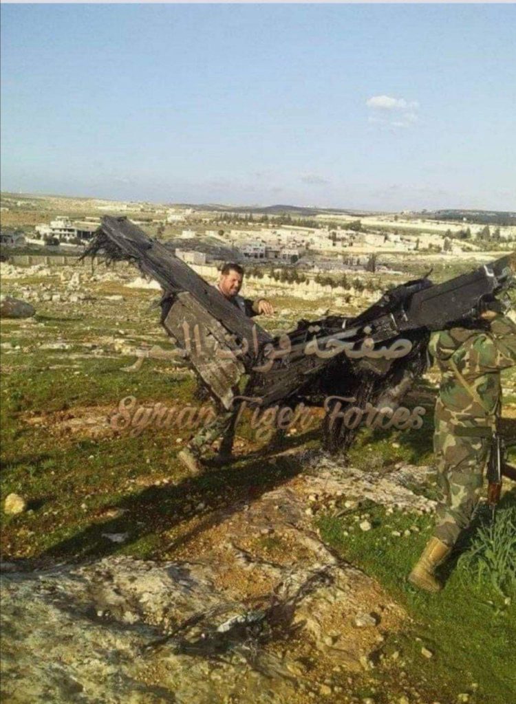 In Photos: Syrian Troops Shot Down Turkish Bayraktar TB2 Combat Drone Near Saraqib