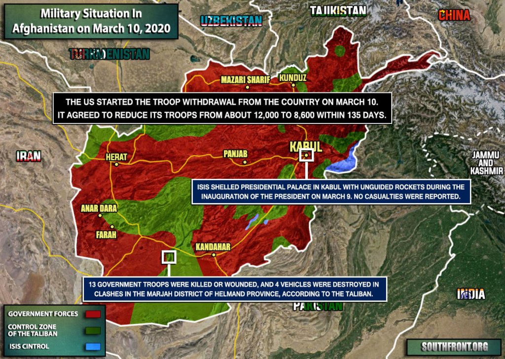 Military Situation In Afghanistan On March 10, 2020 (Map Update)