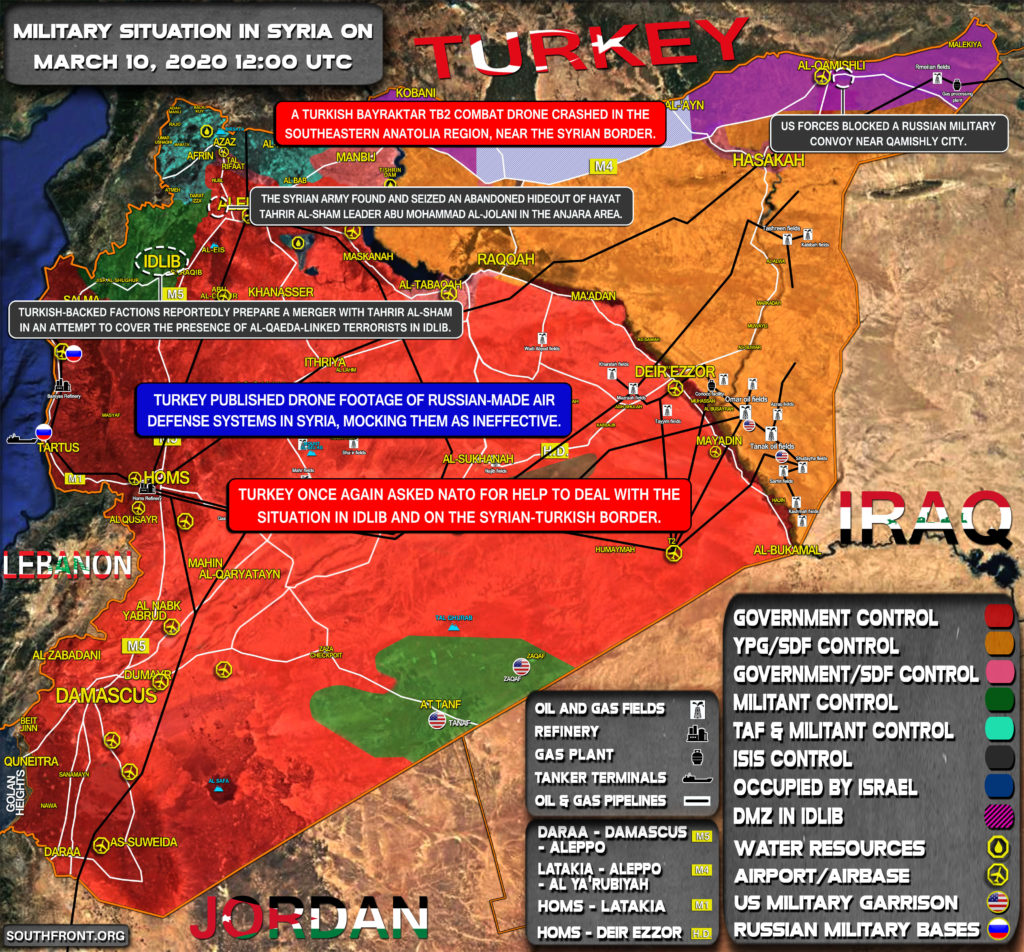 Military Situation In Syria On March 10, 2020 (Map Update)